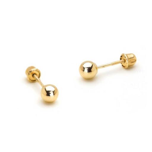 Best gold ball earrings 14k gold karat