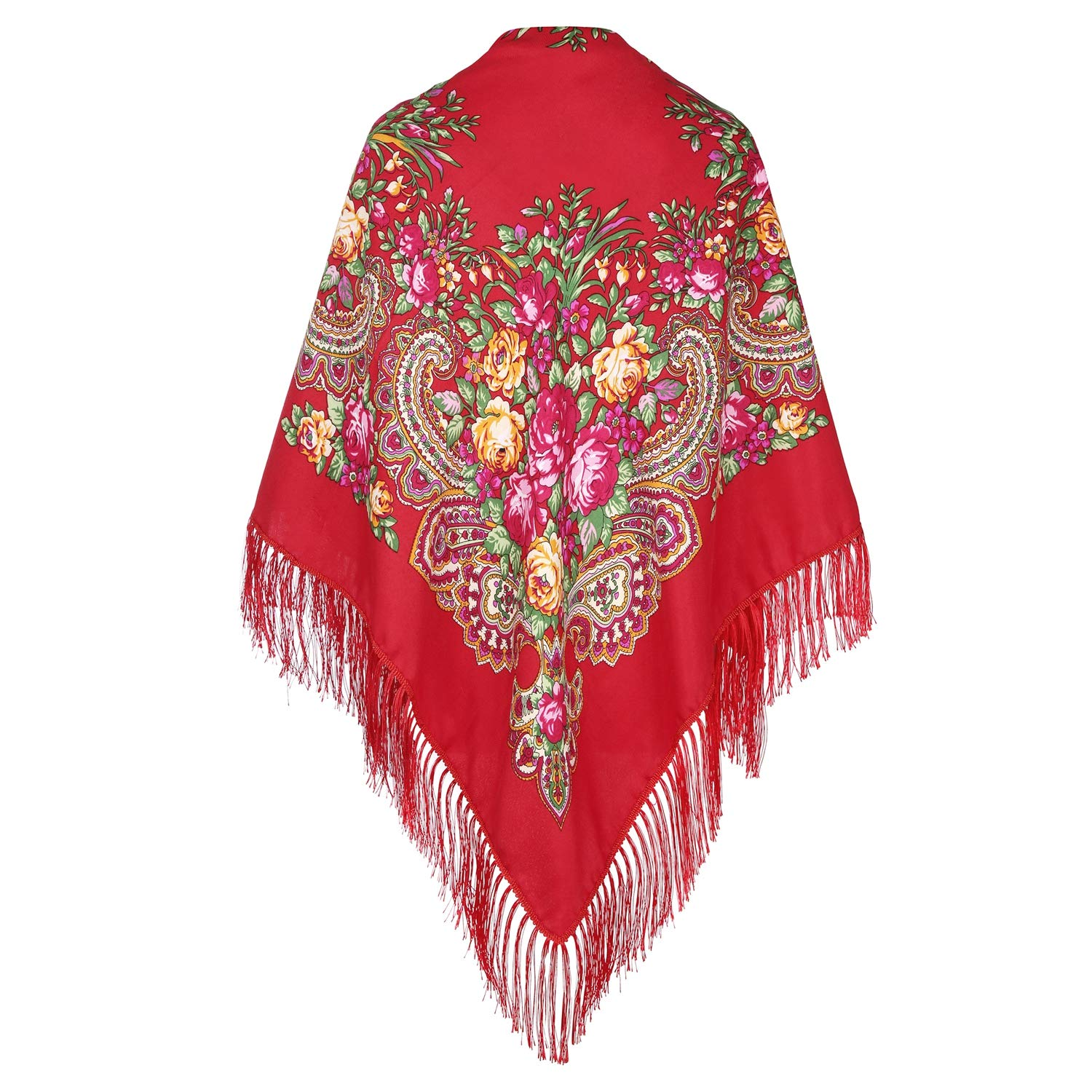 Classic Red Russian Shawl
