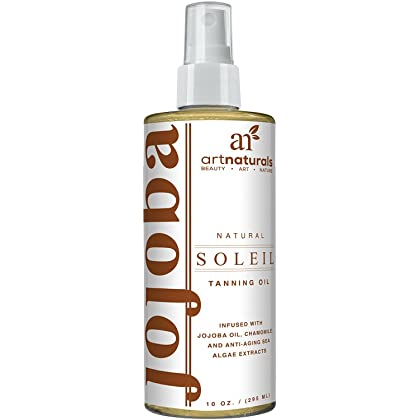 Best Self Tanner - Jojoba Soleil Tanning Oil by ArtNaturals