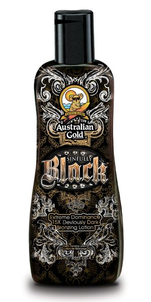 Australian Gold Sinfully Black 15x Deep Dark Bronzing Tanning Lotion - best australian gold tanning lotion