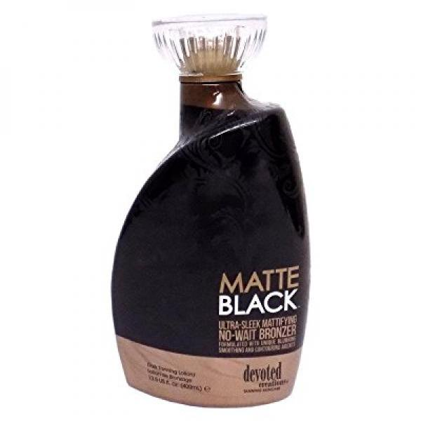 Devoted Creations Matte Black Ultra-Sleek - best matte black tanning lotion