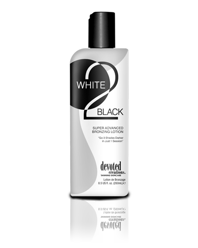 Devoted Creations White 2 Black Supre Advanced Bronzer Tanning Lotion - best bronzer tanning lotion