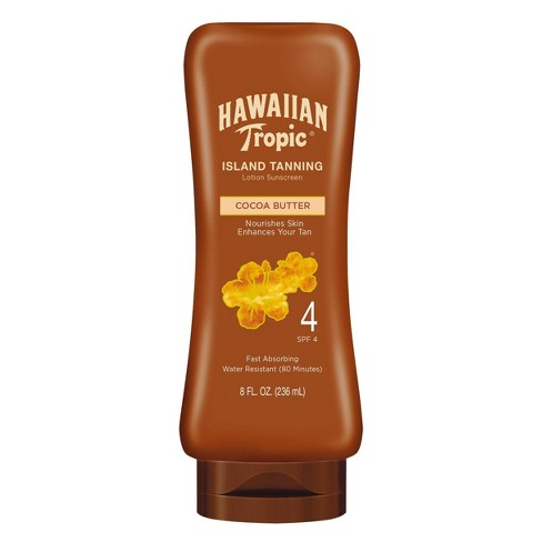 Hawaiian Tropic SPF 4 Sunscreen - best cocoa butter tanning lotion