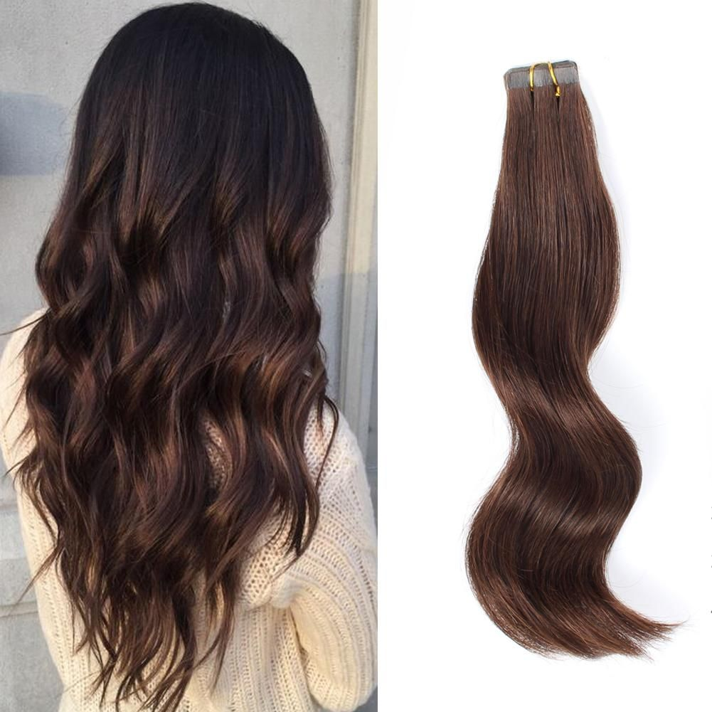 Bronzed Brown REMY Tape In Hair Styles - Trending Hair Style