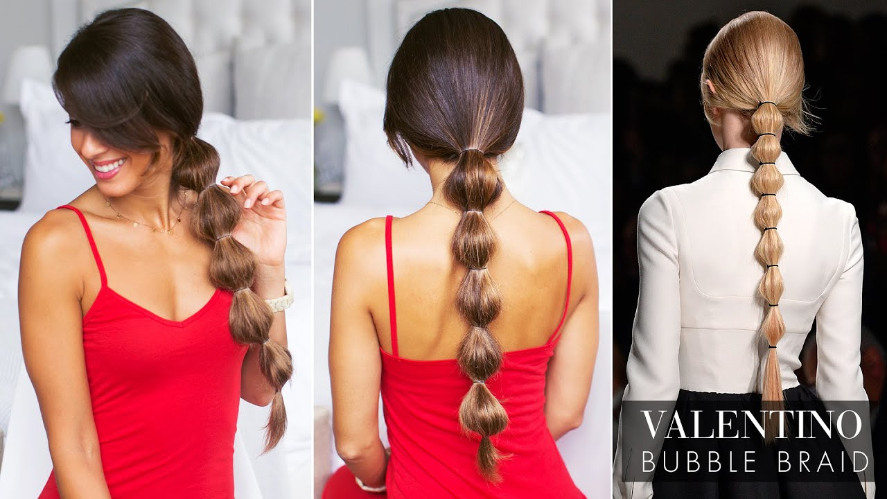 Bubble Ponytail - Trending hair style for weeding