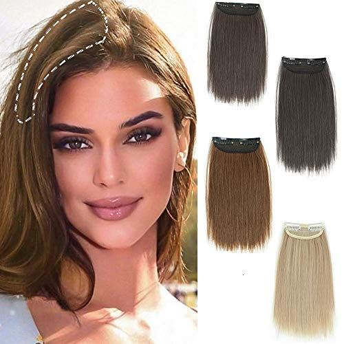 DeeThens Synthetic Short Straight Hairpieces Thinning Hair Adding Hair Volume Fluffy Natural Cushion High Hair - Best Straight Hair Extension for women