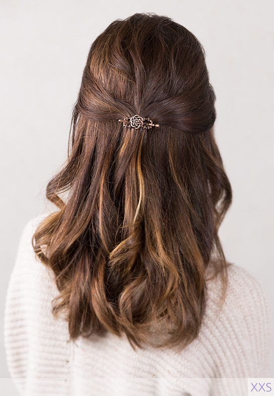 Half-Up & Half-Down Hairstyle - Treding hair style for office