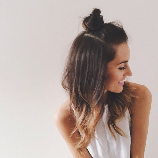 Top Bun Hairstyles - Trending Hair Style for college girls