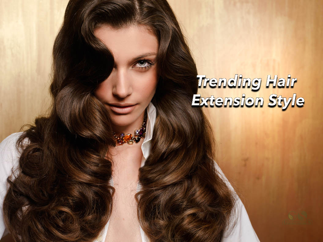 Trending Hair Extension style